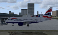 British Airwrays A318 on the ground.