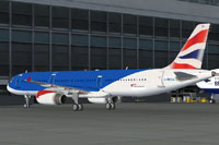 Screenshot of British Airways Airbus A321 on the ground.