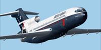 Screenshot of British Airways Boeing 727-200 in flight.