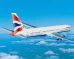 Screenshot of British Airways Boeing 757-200 in flight.