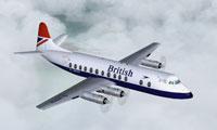 Screenshot of British Airways V.806 Viscount in flight.
