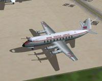 Screenshot of British European Airways Viscount 745 on the ground.