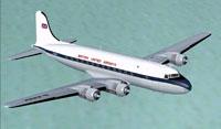 Screenshot of British United Airways Douglas C-54A in flight.