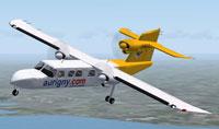 Aurigny BN2A Trislander in flight.