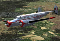 Screenshot of Buckeye Air Freight Beechcraft D18S in flight.