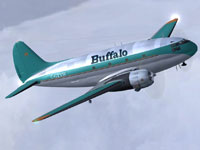 Screenshot of Buffalo Airways C-46 Commando in flight.