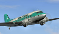 Screenshot of Buffalo Airways Douglas DC-3 in flight.