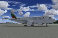 Screenshot of Bulgaria Air Airbus A319 in a new livery.