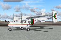 Screenshot of Bulgarian Air Antonov An-14 on the ground.