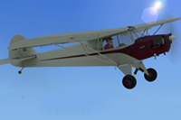 Screenshot of Piper J-3 Cub in the air.