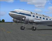 Close up of Bush Pilots Airways Douglas DC-3.