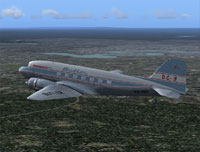 Screenshot of Butler Air Transport Douglas DC-3 in flight.