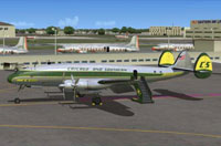 Screenshot of C&S Lockheed L749 Constellation on the ground.