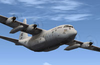 Screenshot of C-130 in flight.