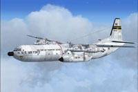Screenshot of C-133B Cargomaster in flight.