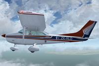Screenshot of Cessna Skylane 182Q ZK-RLD in flight.