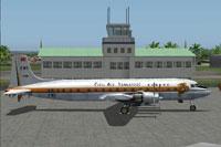 Screenshot of CAT Douglas DC6B on the ground.