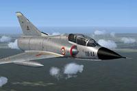 Screenshot of CEAM Mirage IIIB in flight.