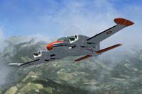 Screenshot of CEV French Cessna 310Q in flight.