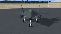 Front view of CF-220 on the ground.