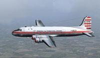 Screenshot of CGTA-Air Algerie Douglas DC-4 in flight.