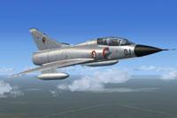 Screenshot of CIFAS Mirage IIIB in flight.