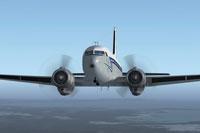 Screenshot of COTAM Douglas C-117 in flight.