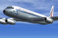 Screenshot of COTAM Douglas DC-8 in flight.