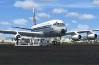 Screenshot of COTAM Douglas DC-8 and ground services.