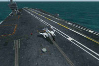 Screenshot of CVN USS George Washington flight deck.