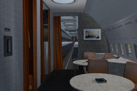 Screenshot of Boeing 707-300 improved cabin.