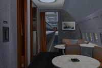 Screenshot of Boeing 707-300 improved cabin.