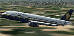Screenshot of Caledonian Airbus A320-200 in the air.