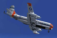 Screenshot of California Air National Guard Boeing KC-97 in flight.