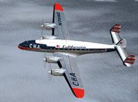 Screenshot of California Hawaiian Airlines L-049 in flight.