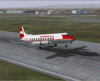 Screenshot of Cambrian Vickers Viscount taking off.