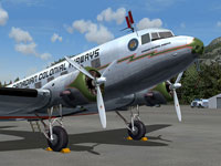 Close up of Canadian Colonial Airways DC-2 on the ground.