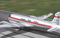 Screenshot of Canadian Pacific Airlines C-4-1 on the runway.