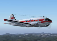 Screenshot of Canadian Pacific Airlines Curtiss C-46 in the air.