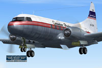 Screenshot of Canadian Pacific Convair CV-240 VBF in flight.