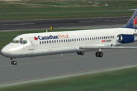 Screenshot of Canadian Virtual Douglas DC-9 on runway.