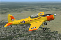 Screenshot of Canadian de Havilland Chipmunk in flight.