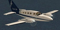 Screenshot of Cape Air Cessna 414A Chancellor in flight.