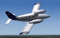 Screenshot of Cape Air Piper PA-34 in flight.