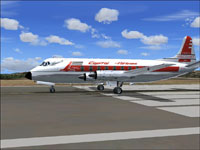 Screenshot of Capital Airlines Vickers Viscount 700 on runway.