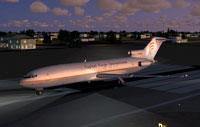 Screenshot of Capital Cargo International 727-200F on runway.