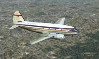 Screenshot of Capitol Airways C-46 in flight.