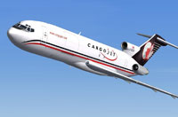 Screenshot of Cargo Jet Boeing 727-200F in flight.