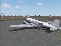 Screenshot of Cargo Venezolano Douglas DC-3 on the ground.