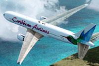 Screenshot of Caribbean Airlines Boeing 767 in flight.